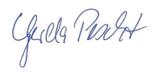 Unterschrift Gerda Pescht